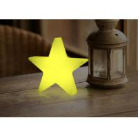 China Star Shape Wood Decorative Battery Operated Desk Lamp / Rechargeable Table Lamp on sale