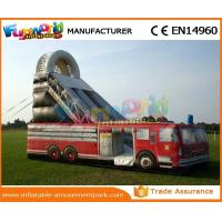 Best Car Shaped Outdoor Inflatable Water Slides Fire Truck Air Wet Slide With Customized Design wholesale