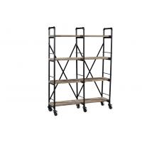 China High End Home Office Bookcase , Open Bookcase ShelvingSolid Wood Decoration Rack on sale