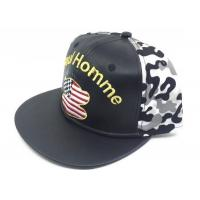 Quality Promotional/Advertising Embroidery 5Panels PU Snapback Baseball Caps for sale