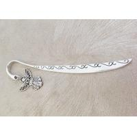 Quality Metal Charm Bookmarks With Unique Pendant , Vintage Style Beaded Metal Bookmarks for sale