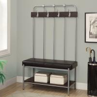 China Metal Entry Storage Bench With Coat Rack & Hooks Black Wire Rack Shelving on sale
