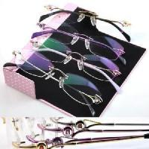Buy cheap Rimless Phanton Crystal Optical Frame Eyeglasses (1005) from wholesalers