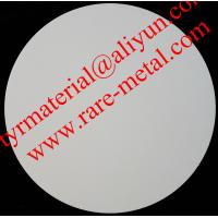 China Zirconium oxide (ZrO2) sputtering targets, purity: 99.95%,  CAS: 1314-23-4 on sale