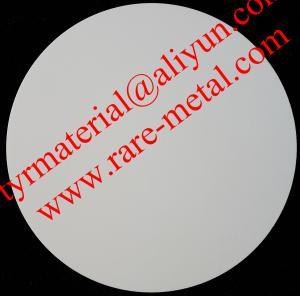China Zirconium oxide (ZrO2) sputtering targets, purity: 99.95%,  CAS: 1314-23-4 on sale