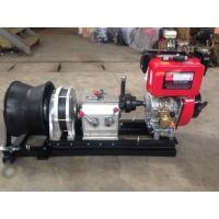 Quality 50KN Hiearns diesel engine Diesel Cable Winch pulling machine for pulling hoisting lifting for sale