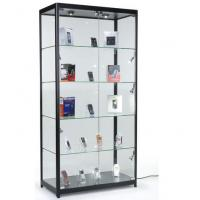 China 4 Fixed Shelves Cell Phone Showcase , Trophy Display Cabinets With Glass Doors on sale