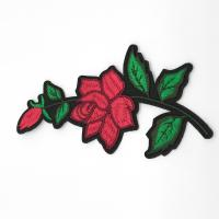 Quality Clothing Appliques Flower Embroidery Patches 100% Polyester Material Delicate for sale