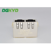 Quality Multiple 1X2 RJ45 Network Connector Shield Head Down Transformer for sale