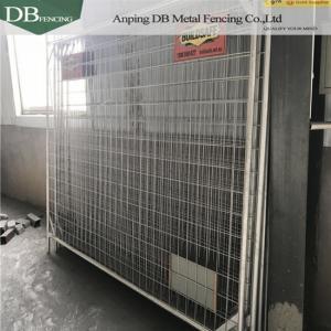Quality Galvanized Temporary Barricade Fence , Temporary Event Fencing 2.1x2.4m OD32mm for sale