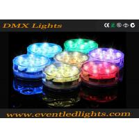 Best ABS Illuminated Rotating LED Light Base For Wedding Centerpiece , Colors Changing wholesale