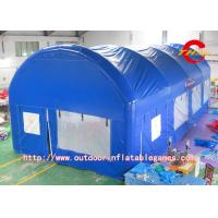 Quality Reusable Blue Inflatable Giant Tent 0.9mm PVC Tarpaulin Waterproof for sale