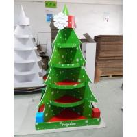 Best Christmas Tree Cardboard Floor Display stand full color printing,cardboard retail display for store fixsture wholesale