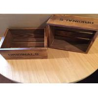 Quality Dark Wood Engraved Custom Wood Serving Tray , Small Wooden Trays Boxes For Cigar for sale