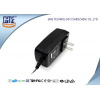 Black US Style AC To DC Power Adapter , 3D Printer 12 Volt AC DC Adapter