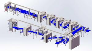 Quality ZKS850 Pastry laminating line / capacity 1200kg/hr with diverse make up accessories and auto.panning machine for sale