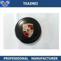Best 80mm Car Brand Logo Porsche Metal Center Wheel Caps Cover Black wholesale