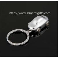 Quality Cheap silver plated miniature car model key rings, exquisite metal car fob key chains, for sale