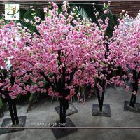 Best UVG china wedding supplies party decoration pink artificial peach blossom trees for sale CHR152 wholesale