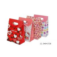 China 150gsm Craft Paper Carrier Bags For Valentine's Day Offset Printing 12.5 X 6 X 17cm on sale