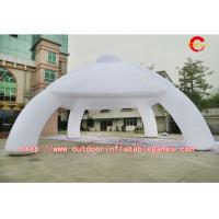 Best White Outdoor Airtight Inflatable Tent Made Of 0.9mm PVC Tarpaulin wholesale