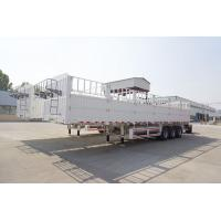 Quality Multi Function Semi Flatbed Trailers , Side Wall Fence Semi Cargo Trailer for sale