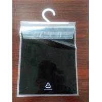 Best Flat Printed PE Clear Self Adhesive Seal Plastic Bags Top Back Open With Hanger wholesale