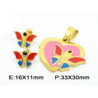 Best Post Stud Fantasy Butterfly Costume Jewelry Sets In Colorful Enamel wholesale