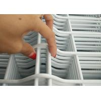Quality White Vinyl Coated Welded Wire Fencing / Galvanised Welded Wire Mesh Panels for sale