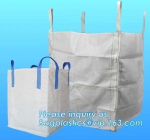 Quality U-type competitive price 100% PP breathable bulk big woven fibc bags mesh jumbo bag for firewood potato, BAGPLASTICS, for sale