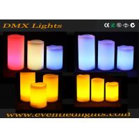 Best Color Changing Pillar Led Flameless Candles With Remote Control , ON / OFF button wholesale