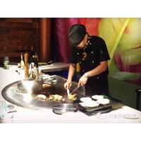 China Electromagnetic Semi - Circle Teppanyaki Grill Cooktop Eigh Seats on sale