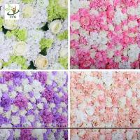 Best UVG wonderful silk rose wall weddings with fake penoy flowers for wedding Décor CHR1137 wholesale