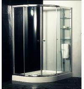 China Custom Glass Door Shower Enclosures , Space Saving Bathroom Shower Cabinets on sale