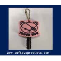 Quality Key Cover Promotional Gifts Soft PVC Keychain / Lovely Bear Personalized Key Chains for sale