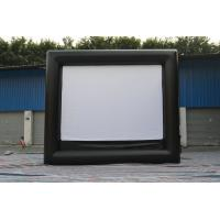 China Black / White Fireproof Portable Inflatable Outdoor Movie Screen 0.55mm PVC Tarpaulin on sale