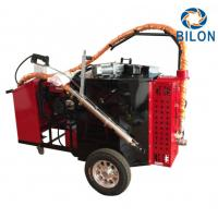Quality 2KW Concrete And Asphalt Crack Sealer Machine Hand Push Type Red Color for sale