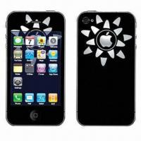 Quality Color Skin Sticker for iPhone 4/4S, with Anti-scratch and Water-/Dust-resistant Features for sale