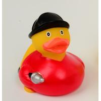Quality Firefighter Fireman Mini Rubber Ducks / Promotional Personalised Rubber Bath Ducks  for sale