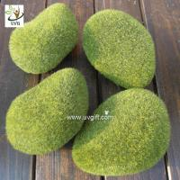 Quality UVG preserved artificial moss stones décor rock for garden grass ornaments to planning a wedding GRS040 for sale