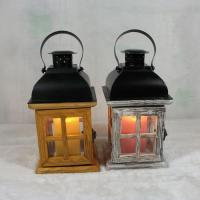 Quality Large Wooden Candle Holder Glass Lantern Lamp Christmas Chic Rustic Natural for sale