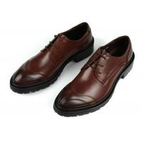 Any Logo Mens Leather Dress Shoes With Stitches Britain Styles Brown Leather Dress Shoes