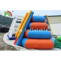 China PVC Tarpaulin Inflatable Floating Island Climbing Tower Slide For Water Park on sale