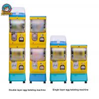 Buy Yellow Bubble Gum Machine , Spiral Gumball Machine With Double Layer at wholesale prices