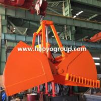 Quality 2cbm Leakage Proof  Motor Electric Hydraulic Clamshell grab Bucket for sale