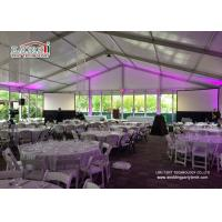 Quality Commercial Outdoor Glass Wall  Event Tents Catering Rental Tent Roof Linning for sale
