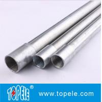 Quality Electrical Galvanized Steel BS4568 Conduit GI Tube With Threaded Coupler, 10 Feet for sale
