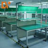 China Connected Esd Safe Workstation Aluminium Profile For Assembly Table on sale