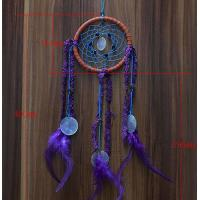 Quality New Dream Catcher with Purple Floral Feather Car Wall Hanging Decor Ornament Crafts for sale