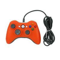 Quality Wired Connection XBOX 360 Game Controller Orange Color 2 Vibration Feedback Motors for sale